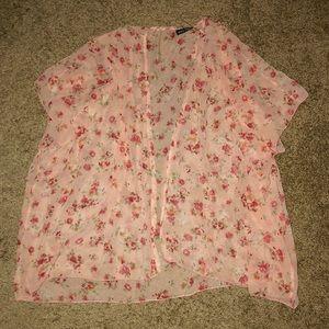 Wet Seal Pink Flower Kimono